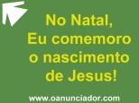 No Natal eu comemoro Jesus