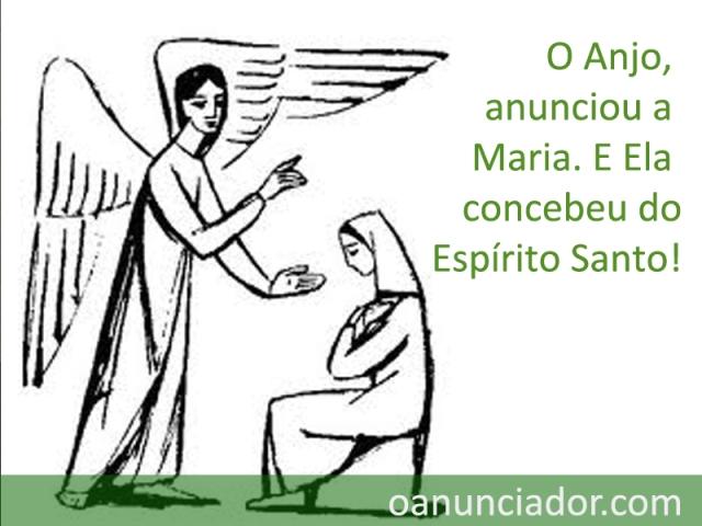 Anjo anunciou a maria