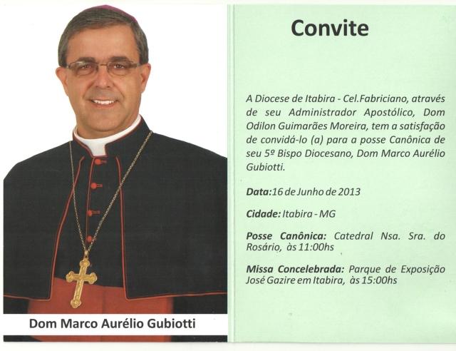 Convite da Posse Canônica