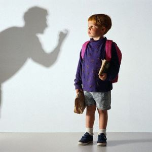 Boy Watching Shadowy Figure