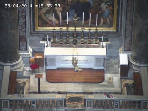 Imagem do Túmulo do Beato João Paulo II que será santificado neste domingo