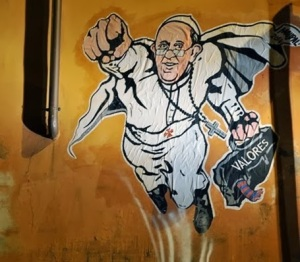 Grafite do Super Papa em Roma