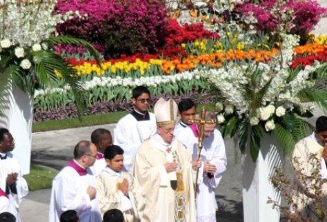 Festa da ressurreição de Cristo no Vaticano.