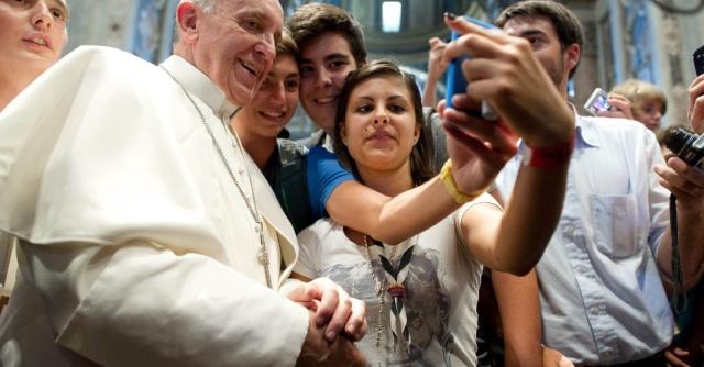 Selfie do Papa durante a JMJ no Rio