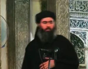 O autoproclamado califa do Estado Islâmico, Abu Bakr al-Baghdadi, líder do grupo.