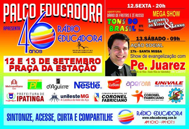 Rádio Educadora - Festa dos 46 Anos - Cartaz de Divulgação
