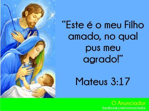 Deus escolhei uma família para que seu Filho amado viesse ao mundo!