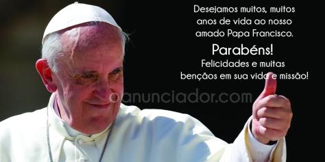 Parabéns Papa Francisco!