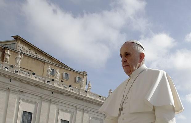 O Papa Francisco no Vaticano nesta quarta-feira (29) (Foto: Max Rossi/Reuters)