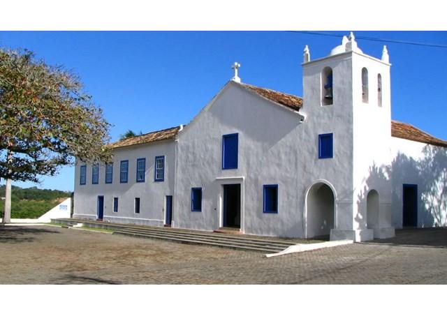 Faixada do Santuário Nacional de São José de Anchieta no Espírito Santo.