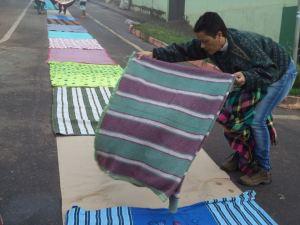 Foram arrecadados mais de 250 cobertores - Foto de Irani Pimenta